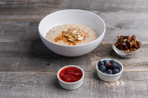 protein oatmeal with paleo granola