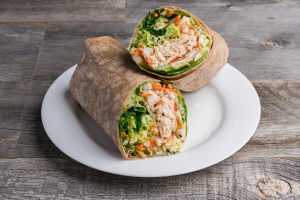 sesame ginger chicken wrap